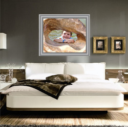 Samolepka na zeď Bílý obraz 120x100 cm