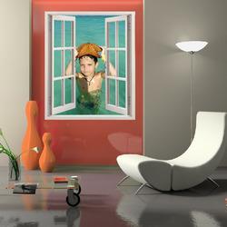 Samolepka na zeď Okno 100x120 cm