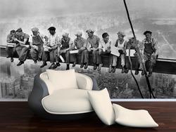 Fototapeta Dělníci na traverze