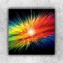 Foto na plátno Duhové štětiny 1 70x70 cm