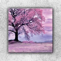 Foto na plátno Růžový strom 3 70x70 cm
