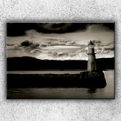 Foto na plátno Sépiový maják 1 70x50 cm