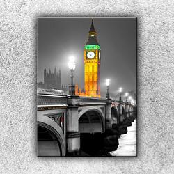 Foto na plátno Big Ben ve zlaté záři 70x50 cm