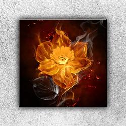 Foto na plátno Květ v ohni 50x50 cm