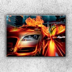 Foto na plátno Auto v plamenech 1 50x35 cm
