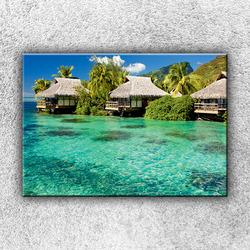 Foto na plátno Rybářské chýše 50x35 cm