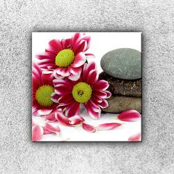 Foto na plátno Květiny s kamením 1 30x30 cm