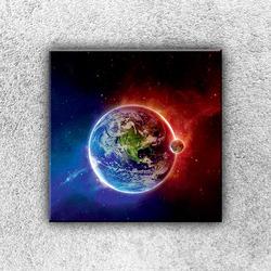 Foto na plátno Dva světy 1 30x30 cm