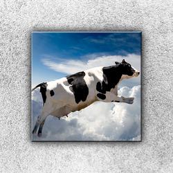 Foto na plátno Létající kráva 30x30 cm