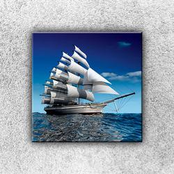 Foto na plátno Plachetnice na moři 30x30 cm