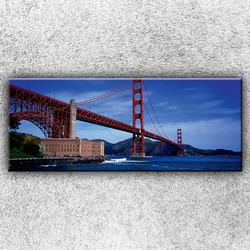 Foto na plátno Golden Gate Bridge zespodu 1 150x60 cm