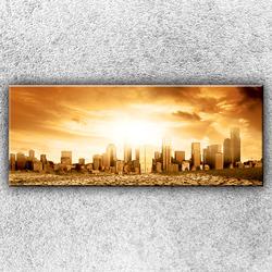 Foto na plátno Vyprahlé město 150x60 cm