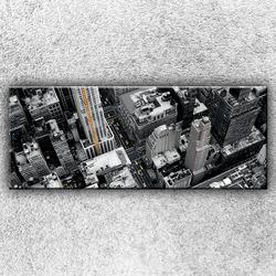 Foto na plátno Černobílé město 3 150x60 cm