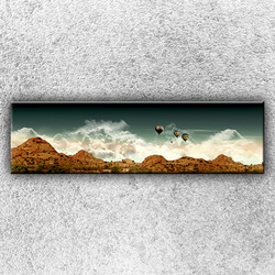 Foto na plátno Balónové panorama 1 140x40 cm