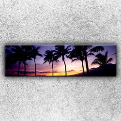 Foto na plátno Palmy při západu slunce 140x40 cm