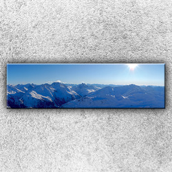 Foto na plátno Slunečné hory 140x40 cm