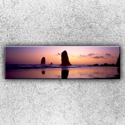 Foto na plátno Útesy při západu slunce 140x40 cm