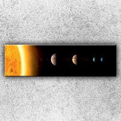 Foto na plátno Planety sluneční soustavy 140x40 cm