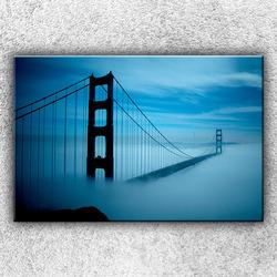 Foto na plátno Golden Gate v mlze 120x80 cm