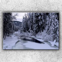 Foto na plátno Zimní potok 120x80 cm
