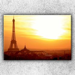 Foto na plátno Eiffelovka při západu slunce 120x80 cm