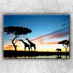 Foto na plátno Siluety safari 1 120x80 cm
