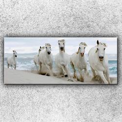 Foto na plátno Koně na pláži 1 120x50 cm