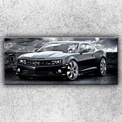 Foto na plátno Černý Chevrolet 120x50 cm