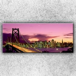 Foto na plátno Most při západu slunce 120x50 cm