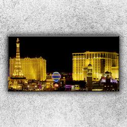 Foto na plátno Zářící město 1 100x50 cm