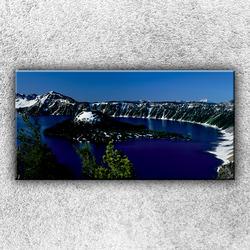 Foto na plátno Jezero v horách 100x50 cm