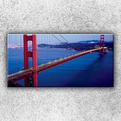 Foto na plátno Večerní Golden Gate 100x50 cm