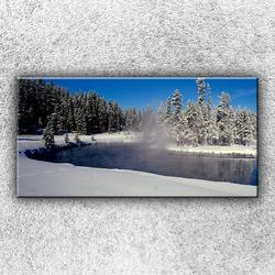 Foto na plátno Zimní jezero 100x50 cm