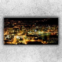 Foto na plátno Osvětlené město 100x50 cm
