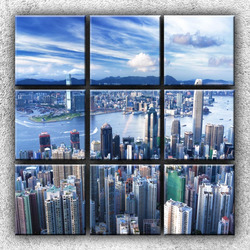 Foto na plátno Městské panorama 3 90x90 cm