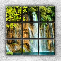 Foto na plátno Skalní vodopád 4 90x90 cm