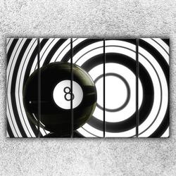 Foto na plátno Černá osmička 125x80 cm