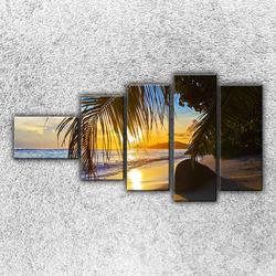 Foto na plátno Palmová pláž 2 110x60 cm