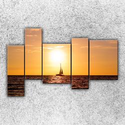 Foto na plátno Západ slunce nad jachtou 4 190x120 cm