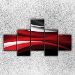 Foto na plátno Červenobílá vlna 3 125x70 cm