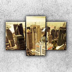 Foto na plátno Mrakodrapy - sépie 1 105x70 cm