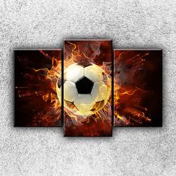 Foto na plátno Fotbalový míč 75x50 cm