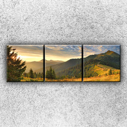 Foto na plátno Slunné hory 2 75x25 cm
