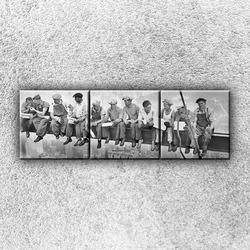 Foto na plátno Dělníci na traverze 2 120x40 cm