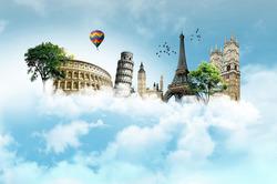 Plakát Monumenty v oblacích