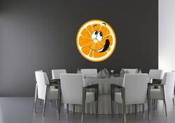 Barevná samolepka na zeď Pomeranč