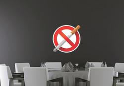 Barevná samolepka na zeď Zákaz kouření