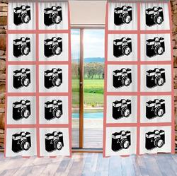 Závěs Šablona z 10 fotografií 140x250 cm