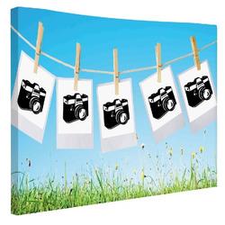 Foto na plátno Prádelní šňůra 70x50 cm