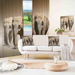 Závěsy Stádo slonů